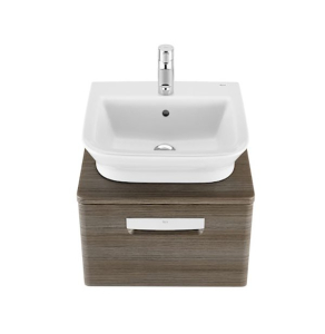 Roca The Gap 1-Drawer Bathroom Vanity Unit with Basin 500mm W - Dark Wood RO10375