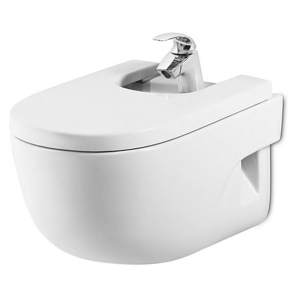Roca Meridian-N Wall Hung Bidet with Standard Seat 560mm Projection - 1 Tap hole RO10149