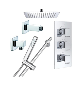 Bristan Designer Descent Triple Concealed Mixer Shower with Shower Kit + Fixed Head DESCENT SHWR PK