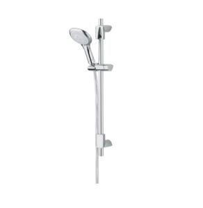 Bristan Evo Adjustable Shower Rail Kit, Multi Function Handset, Chrome EVC KIT02 C