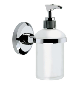 Bristan Solo Wall Mounted Frosted Glass Soap Dispenser Chrome Plated SO SOAP C