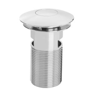 Bristan Round Push Basin Waste Chrome - Slotted W BASIN08 C W BASIN08 C