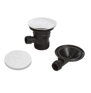 Bristan Round Bath Clicker Waste with Overflow Chrome - Slotted W BATH03 C