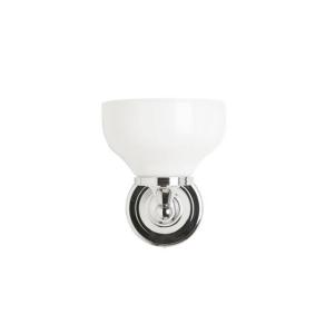 Burlington Round Bathroom Light, 217mm High x 170mm Wide, Chrome/Frosted Glass BU10815