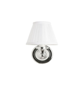 Burlington Round Bathroom Light, 225mm High x 150mm Wide, Chrome/White Shade BU10813