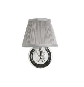 Burlington Round Bathroom Light, 225mm High x 156mm Wide, Chrome/Silver Shade BU10811