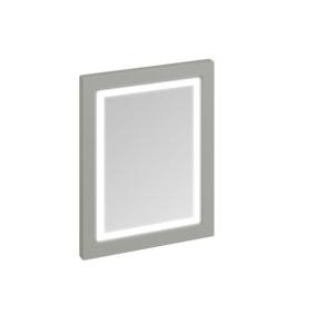 Burlington 60 Fitted Framed LED Bathroom Mirror, 750mm High x 600mm Wide, Olive BU10455