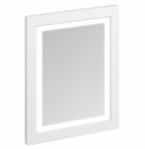 Burlington 60 Fitted Framed LED Bathroom Mirror, 750mm High x 600mm Wide, Matt White BU10453