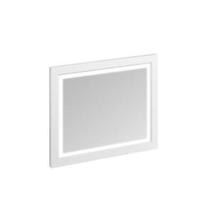 Burlington 90 Fitted Framed LED Bathroom Mirror, 750mm High x 900mm Wide, Matt White BU10457