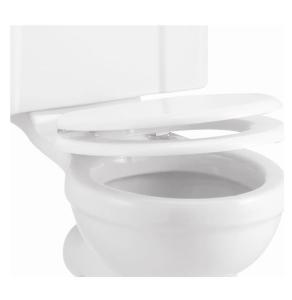 Burlington Standard Carbamide Toilet Seat, Soft Close Hinges, White BU10830