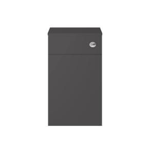 Nuie Athena Gloss Grey Contemporary 500mm WC Unit - MOC342 MOC342