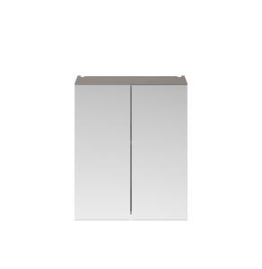 Nuie Athena Stone Grey Contemporary 600mm Mirror Unit (50/50) - MOC523 MOC523
