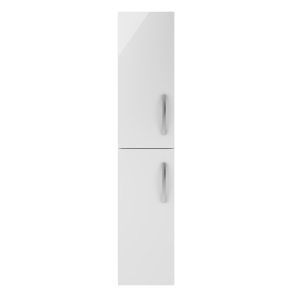 Nuie Athena Gloss White Contemporary 300mm Tall Unit (2 Door) - MOE162 MOE162