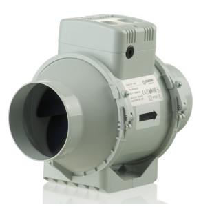 """In Line Bathroom Kitchen Extractor Fan TURBO E Mixed Flow Loft Mounted Ventilator - 100mm 4"""" BLA10033"""