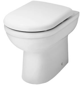 Nuie Ivo White Contemporary Back to Wall Pan - NCS286 NCS286