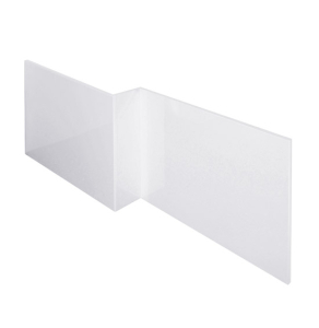 Nuie Amelia Gloss White Contemporary Front Panel (1700mm) - NMP135 NMP135