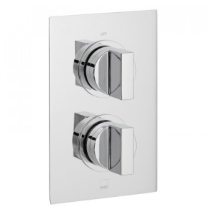 Vado Notion 1 Outlet 2 Handle Concealed Thermostatic Shower Valve Wall Mounted - Not-148D-C/P VADO1598