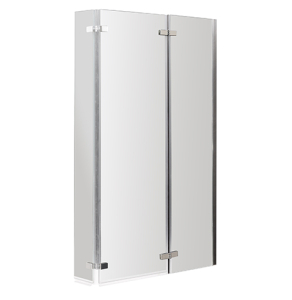 Nuie Bath Screens Polished Chrome Contemporary Quattro Screen Double Hinged - NSBS3 NSBS3
