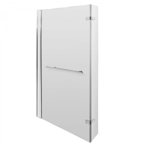 Nuie Bath Screens Polished Chrome Contemporary Quattro Screen Hinged With Rail - NSBSR1 NSBSR1