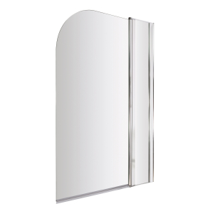 Nuie Bath Screens Polished Chrome Contemporary Straight Screen With Fixed Panel - NSS2 NSS2