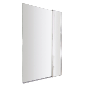 Nuie Bath Screens Polished Chrome Contemporary Square Screen With Fixed Panel - NSSQ1 NSSQ1