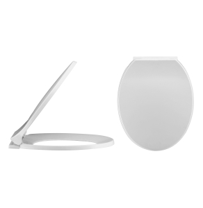 Nuie White Contemporary Soft Close Toilet Seat - NTS010 NTS010