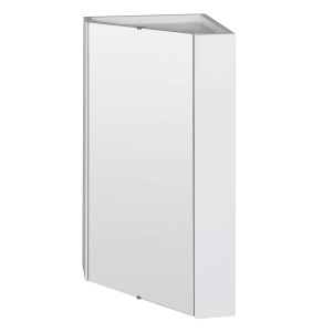 Nuie Mayford White Contemporary Corner Mirror Cabinet - NVC118 NVC118