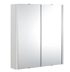 Nuie Eden White Contemporary 600mm Mirror Cabinet - NVM113 NVM113