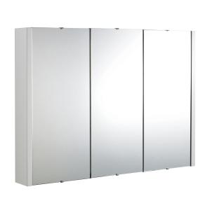 Nuie Eden White Contemporary 900mm Mirror Cabinet - NVM116 NVM116