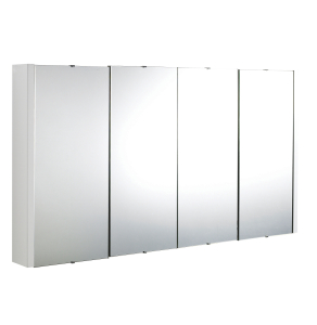 Nuie Eden White Contemporary 1200mm Mirror Cabinet - NVM118 NVM118