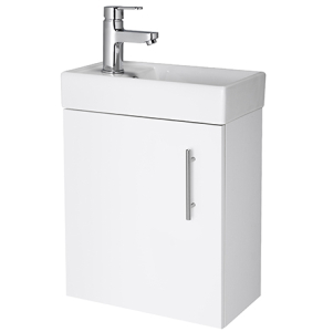Nuie Vault Gloss White Contemporary Wall Hung 400mm Cabinet & Basin - NVX182 NVX182