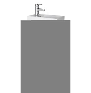 Nuie Vault Gloss White Contemporary Floor Standing 400mm Cabinet & Basin - NVX192 NVX192