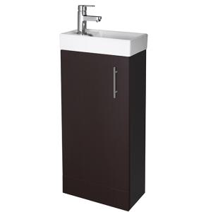 Nuie Vault Hacienda Black Contemporary 400 Single Door Floor Standing Unit and Basin - MIN004 MIN004