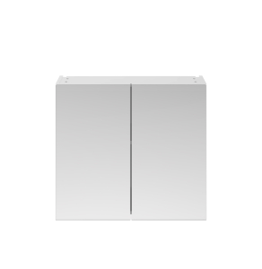 Nuie Athena Gloss White Contemporary 800mm Mirror Unit (50/50) - OFF119 OFF119