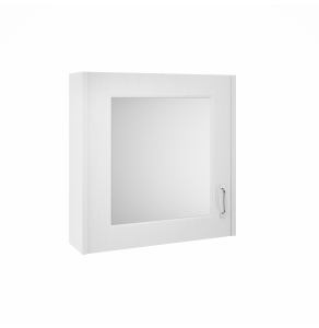 Nuie York White Ash Traditional 600mm Mirror Cabinet - OLF113 OLF113