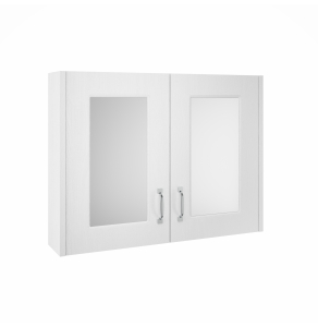 Nuie York White Ash Traditional 800mm Mirror Cabinet - OLF115 OLF115