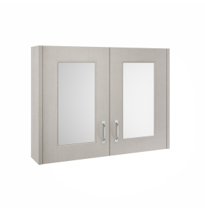 Nuie York Stone Grey Traditional 800mm Mirror Cabinet - OLF215 OLF215