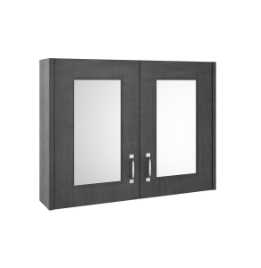 Nuie York Royal Grey Traditional 800mm Mirror Cabinet - OLF415 OLF415
