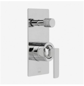 Vado Omika Concealed Single Lever Wall Mounted Manual Shower Valve With Diverter - Omi-147A-C/P VADO1450