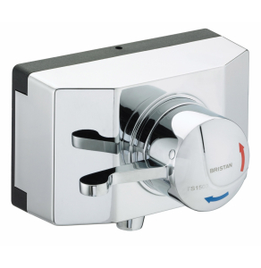 Bristan Opac TS1503 Exposed Shower Valve with Lever and Shroud - OP TS1503 SCL C OP TS1503 SCL C