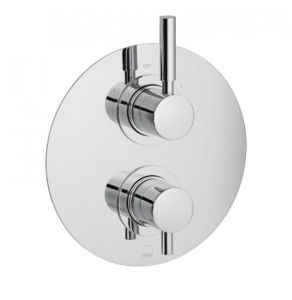 Vado Origins 2 Outlet 2 Handle Thermostatic Shower Valve Wall Mounted - Ori-148D/2-C/P VADO1603