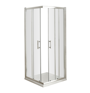 Nuie Pacific Corner Entry Polished Chrome Contemporary 760mm - AFCE7676 AFCE7676