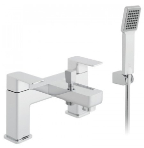Vado Phase 2 Hole Bath Shower Mixer Single Lever Deck Mounted With Shower Kit - Pha-130+K-C/P VADO1877