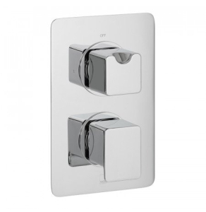 Vado Phase 1 Outlet 2 Handle Concealed Thermostatic Shower Valve Wall Mounted - Pha-148D-C/P VADO1622