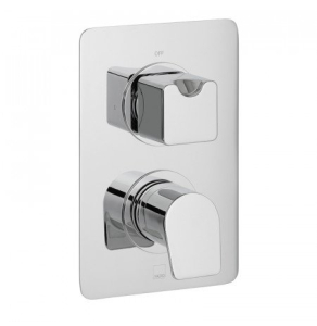 Vado Photon 1 Outlet 2 Handle Concealed Thermostatic Shower Valve Wall Mounted - Pho-148D-C/P VADO1625