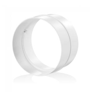 "Blauberg Round Circular Plastic Ventilation Duct Pipe Joining Coupler - 100mm 4"" Dia BLA10104"