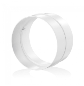"Blauberg Round Circular Plastic Ventilation Duct Pipe Joining Coupler - 200mm 8"" Dia BLA10269"