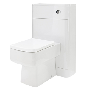 Nuie Parade Gloss White Contemporary 550mm WC Unit - PMP141 PMP141