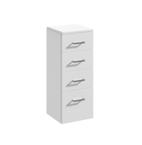 Nuie Mayford Gloss White Contemporary 4 Drawer Unit - PRC133 PRC133