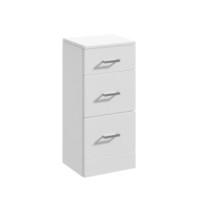 Nuie Mayford Gloss White Contemporary 3 Drawer Unit - PRC135 PRC135